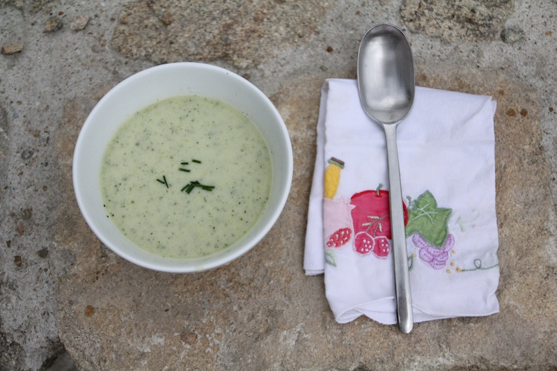Velouté de courgettes au lait ribot via Wonderful Breizh