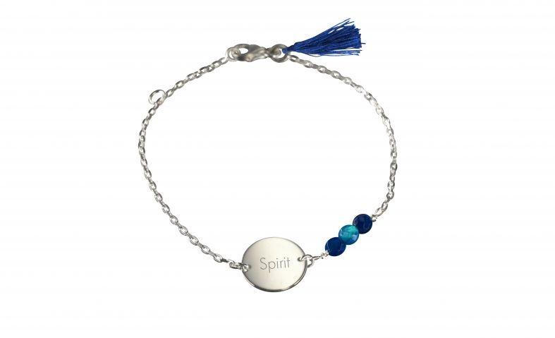 bracelet-medaille-a-graver-argent-bleu