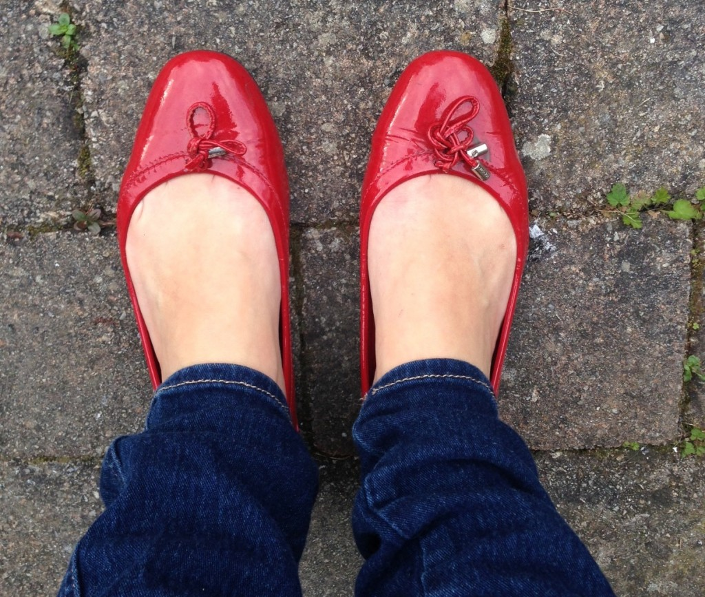 mes chaussures rouges