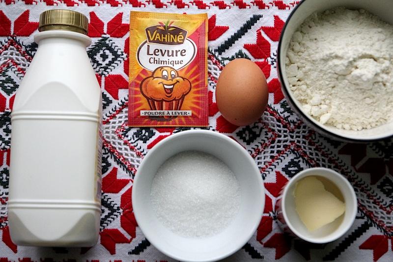 Ingrédients de la recette pancakes au lait ribot, cliquez pour lire la recette complète