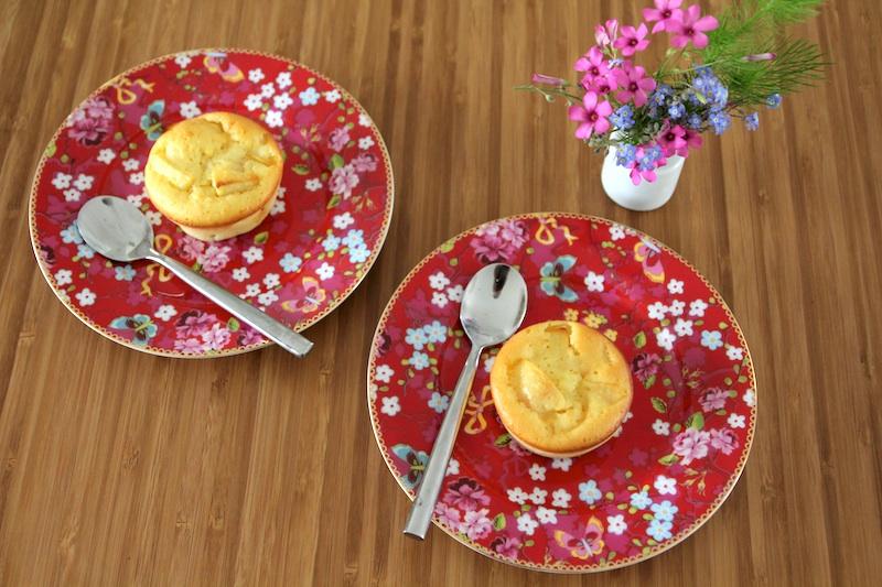 Mini clafoutis au lait ribot et aux pommes