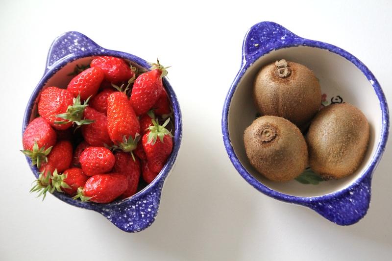 Tarte aux fraises et aux kiwis