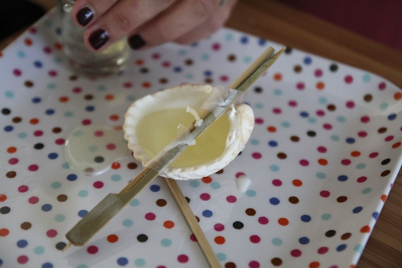 DIY bougies coquillages
