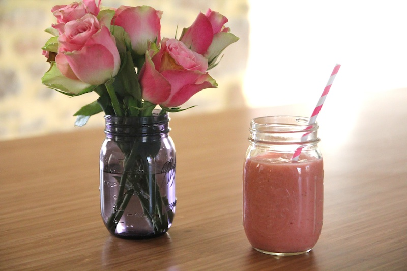 pink smoothie de Saint Valentin