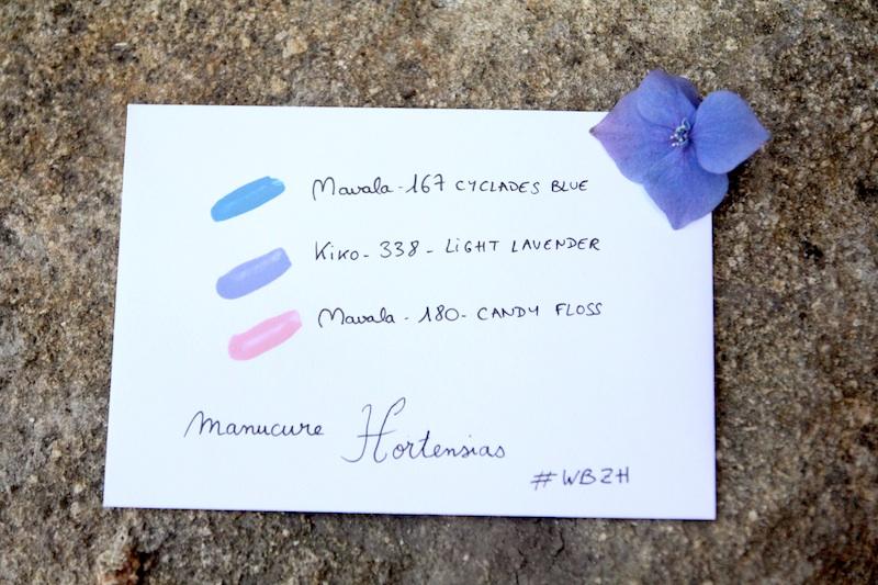 Manucure hortensia via Wonderful Breizh