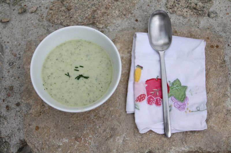 Velouté de courgettes au lait ribot via Wonderful Breizh