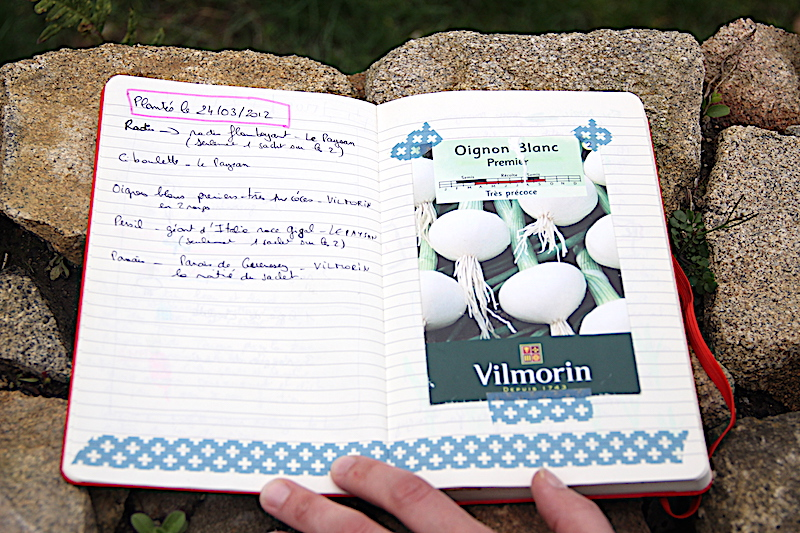 Carnet de jardinage via Wonderful Breizh