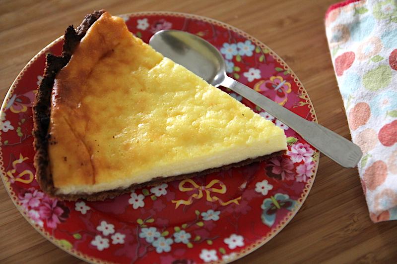 Tarte au lait ribot via Wonderful Breizh